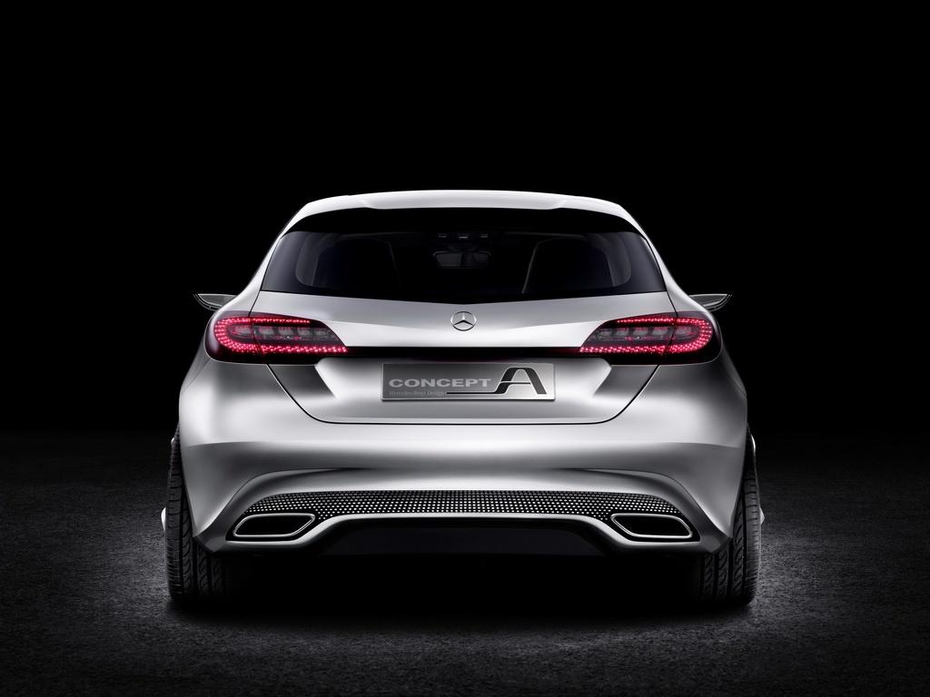 Mercedes A-Class Concept Car Back View